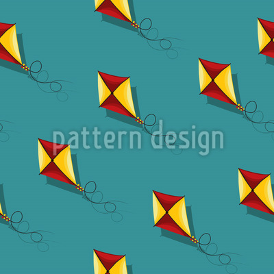 Kites Fly Seamless Vector Pattern