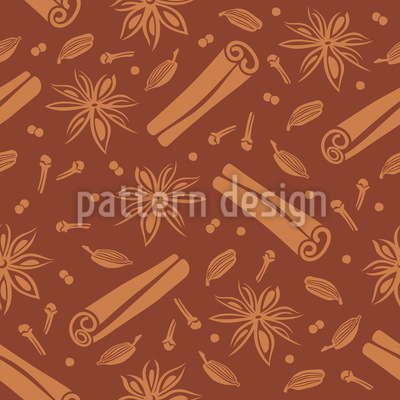 Christmas Spices Vector Pattern