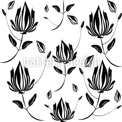 Magnolie Im Schatten Vektor Design
