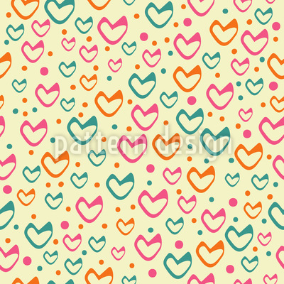 Süsse Herzen Steigen Auf Muster Design