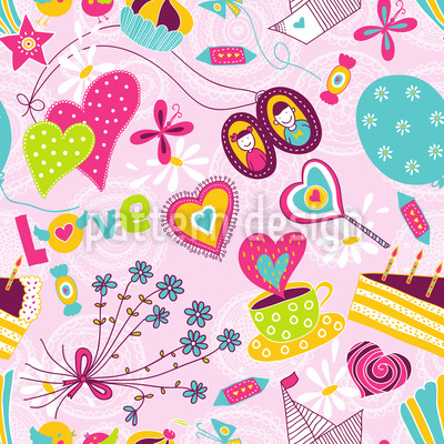 Birthday Dreams Repeating Pattern
