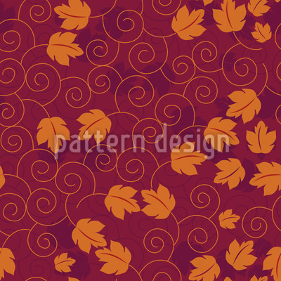 Grape Leaf Romance Pattern Design