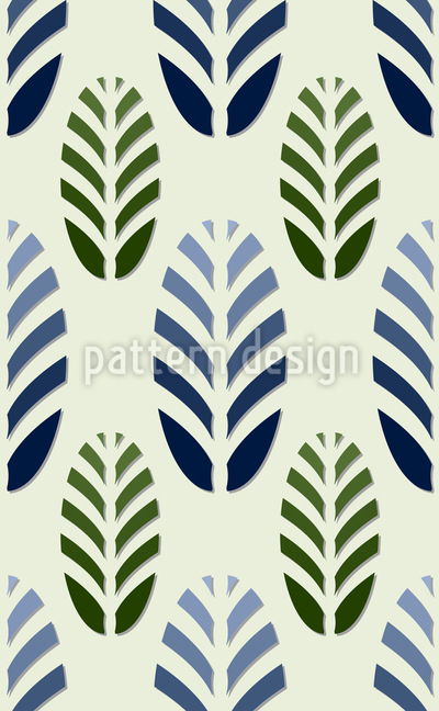 Cool Pinecone Parade Pattern Design