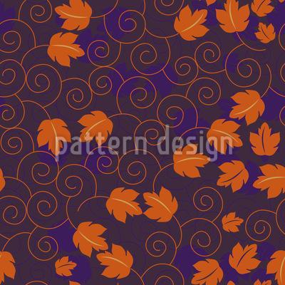 Grape Leaf Royal Design Pattern