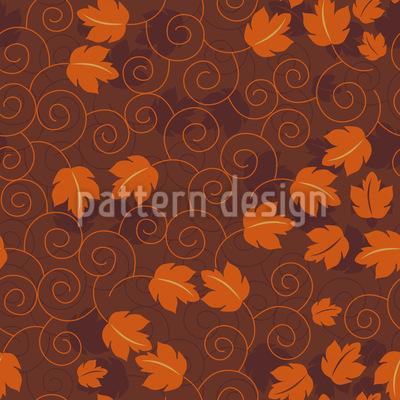 Golden Wine Leaf Romance Pattern Design
