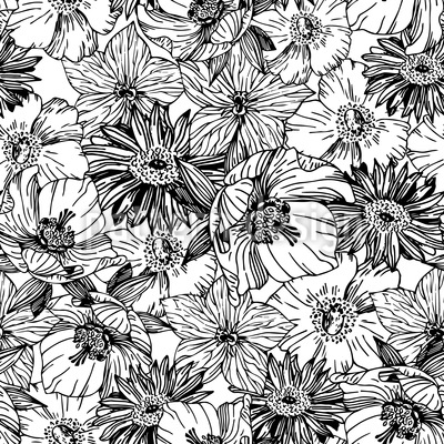 Flower Intoxication Seamless Vector Pattern