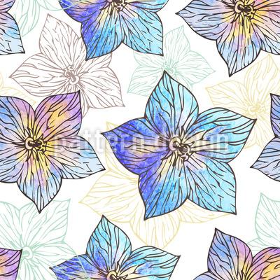 Aquarela Hibiscus Design de padrão vetorial sem costura