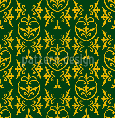 Pomegranate Medieval Seamless Vector Pattern Design