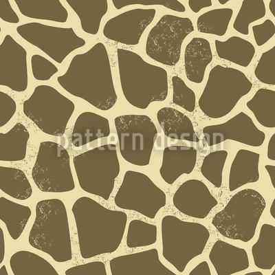 Giraffe Im Sand Musterdesign