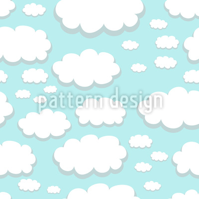 Clouds Over Springfield Seamless Vector Pattern