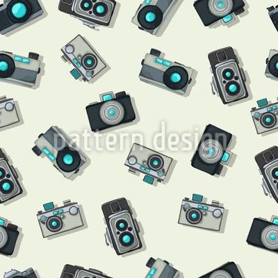 Vintage Kamera Nahtloses Vektormuster