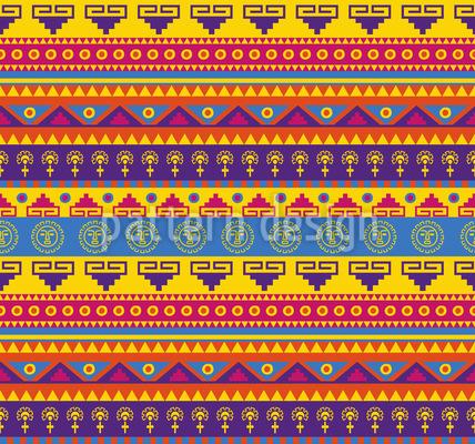 Lustiger Inka Print Nahtloses Vektormuster