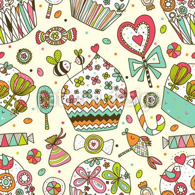 I dolci piaceri della vita disegni vettoriali senza cuciture