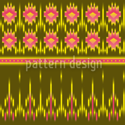 Multicultural Ikat Seamless Vector Pattern Design