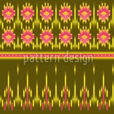 Multicultural Ikat Vector Ornament