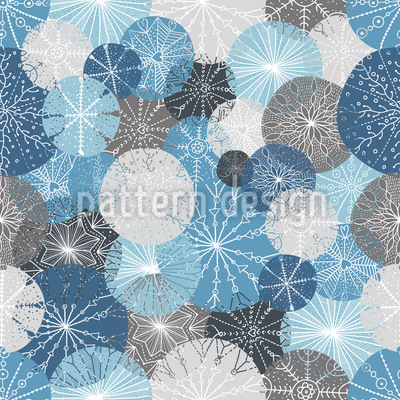 Gorgeous Winter Circles Vector Pattern