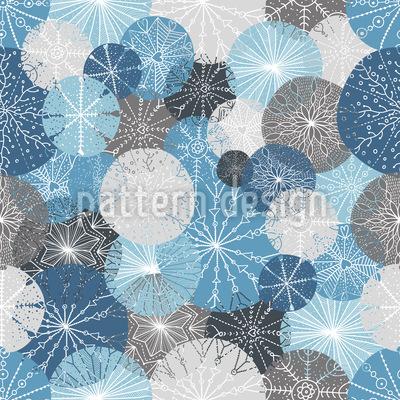 Herrliche Winter Kreise Vektor Muster