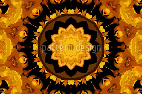 Stern Im Kaleidoskop Rapportmuster