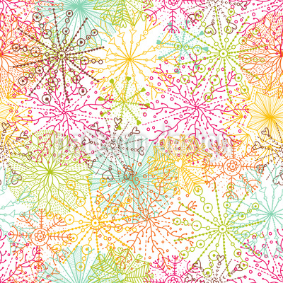 Coral Stars Repeating Pattern