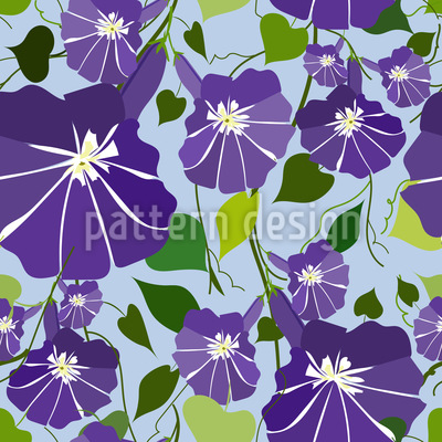 Morning Glory Repeat Pattern