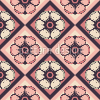 Checkerboard Floralia Vector Pattern