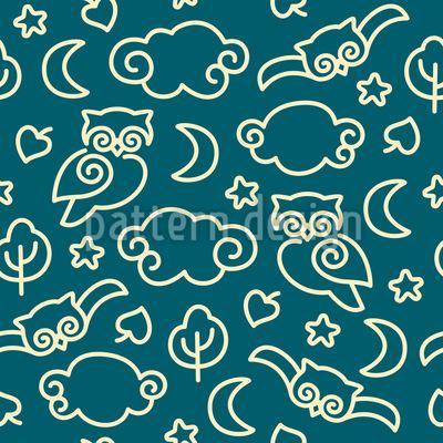 Night Owls Repeat Pattern