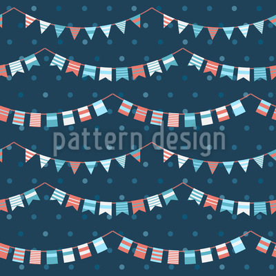 Funny Garlands Pattern Design
