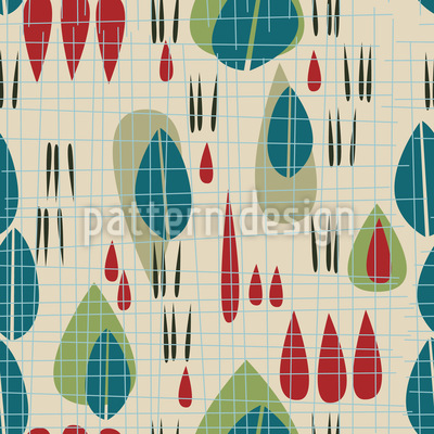 Garden Of The Past Seamless Vector Pattern
