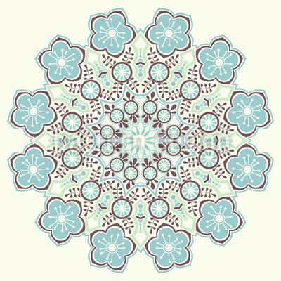 Magical Winter Mandala Vector Pattern