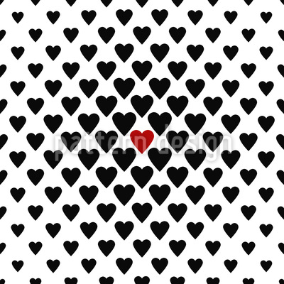 Ein Herz In Einer Million Muster Design
