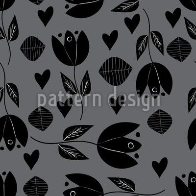 Tulpe Mit Herz Designmuster