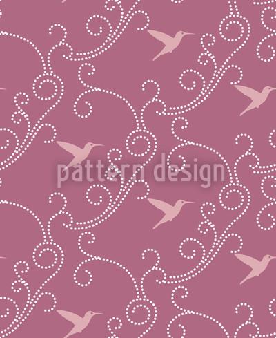 Lavendel-Kolibris Designmuster