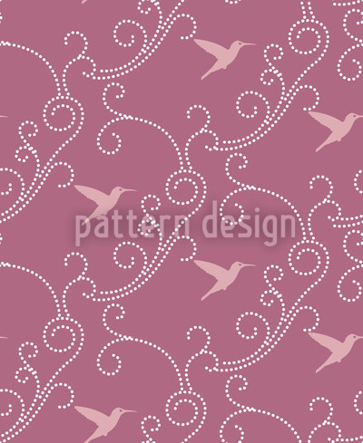 Lavender Hummingbird Design Pattern