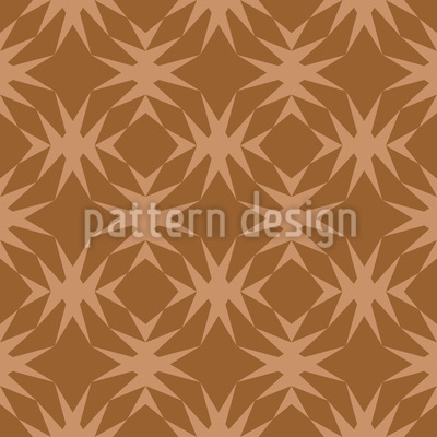 Star Check In Caramel Seamless Pattern