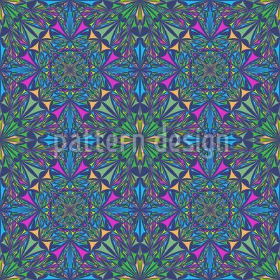 Mystisches Kaleidoskop Rapportiertes Design