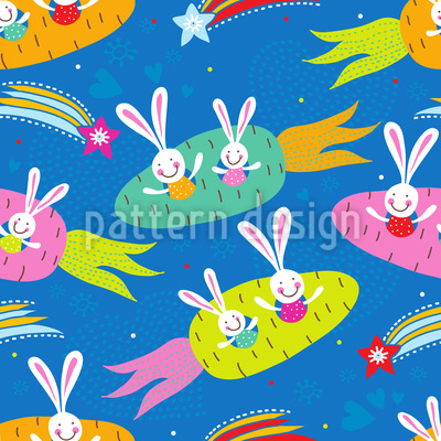 Dreamship Bunny Pattern Design