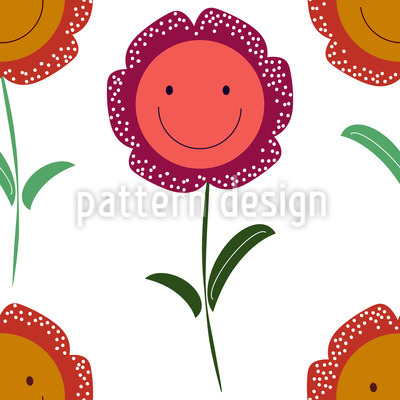 Catch You A Smile Vector Pattern