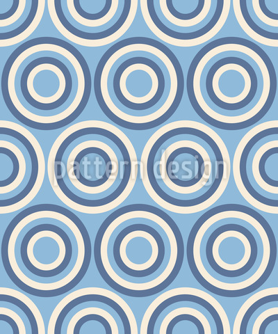 Retro Wheels Of Fortune Seamless Vector Pattern Design