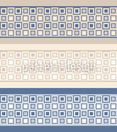 Mosaic Borders Seamless Vector Pattern Design