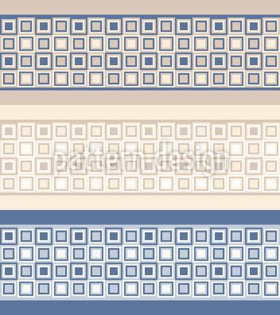 Bordi mosaico disegni vettoriali senza cuciture