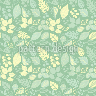 Variety Of Leaves Pattern Design