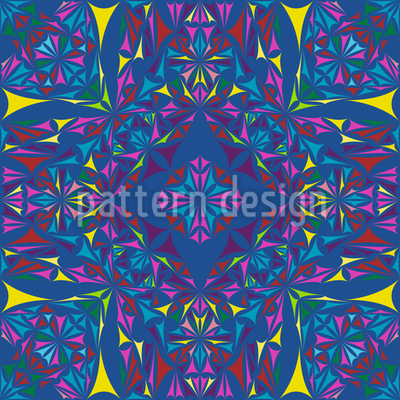 Kaleidoscope Splinters Seamless Vector Pattern