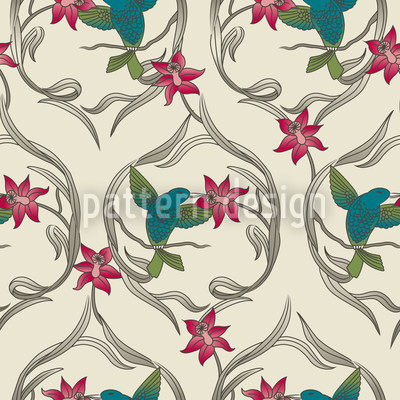 Kolibri Dream Seamless Vector Pattern Design