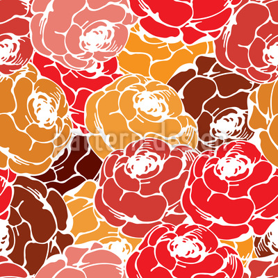 Rosen Seifen Muster Design