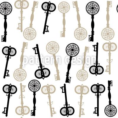 Welcher Schlüssel Passt Vektor Ornament