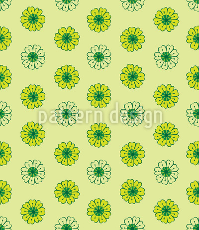 Lime Flowers Repeating Pattern