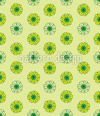 Limetten Blumen Rapportiertes Design