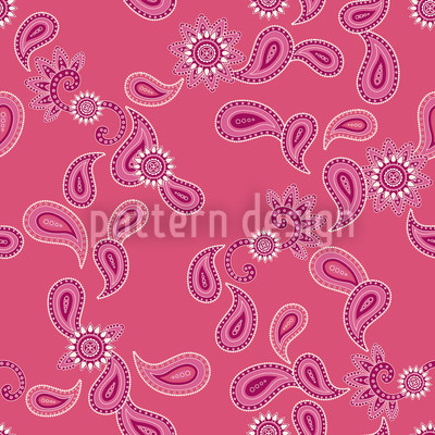 Paisley In Pink Muster Design