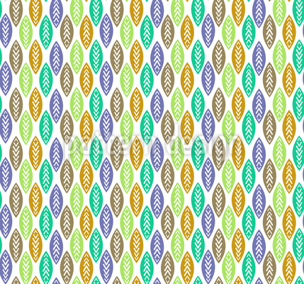 Blätter Im Navaho Wald Nahtloses Muster