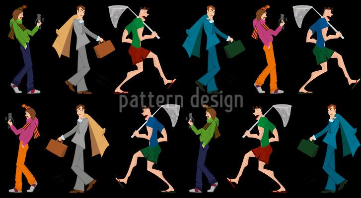 Homens como você Design de padrão vetorial sem costura